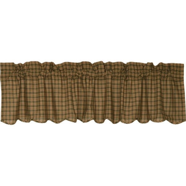 "Barrington Scalloped Lined Valance - 16"" x 72"""