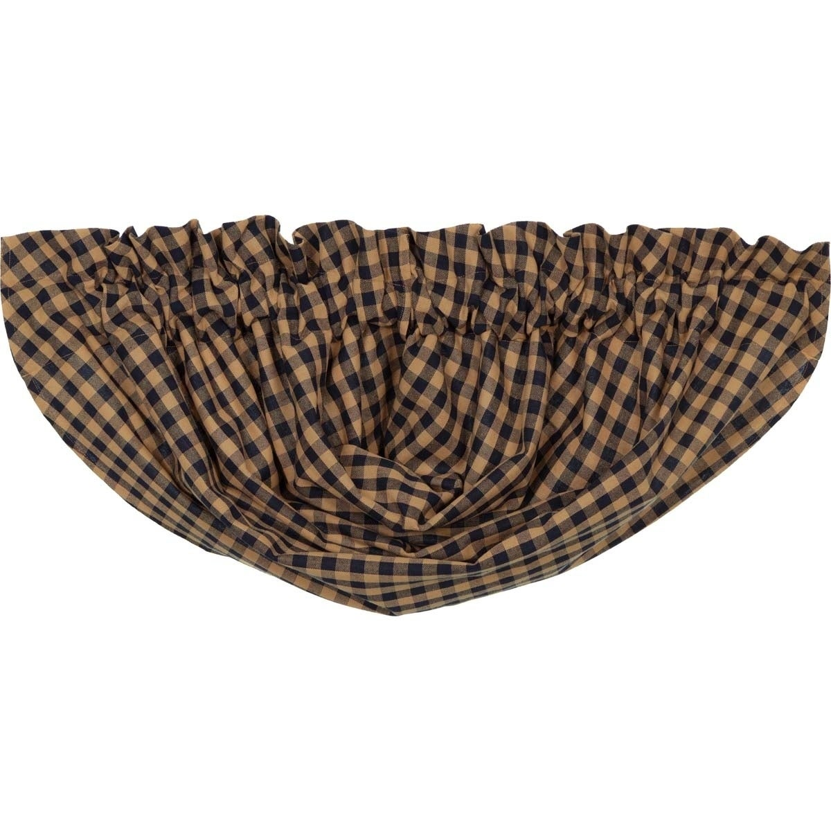 """VHC Brands Check Lined Balloon Valance - 15"""" x 60"""" (Navy)..."""
