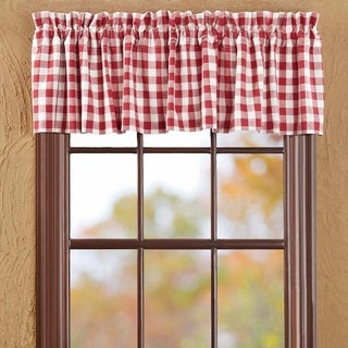 """Buffalo Red Check Lined Valance - 16"""" x 72"""""""