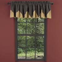 """Kettle Grove Layered Lined Plaid Valance - 16"""" x 72"""""""