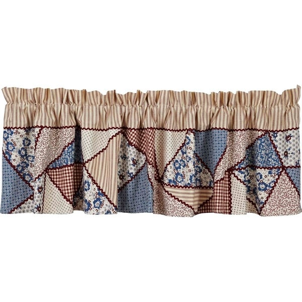 "Millie Lined Patchwork Valance - 16"" x 72"""