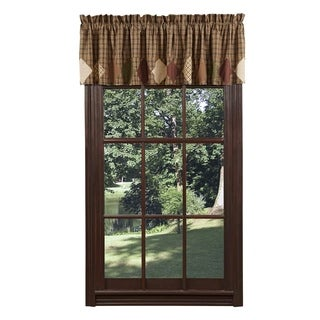 "Barrington Block Border Lined Valance - 16"" x 72"""