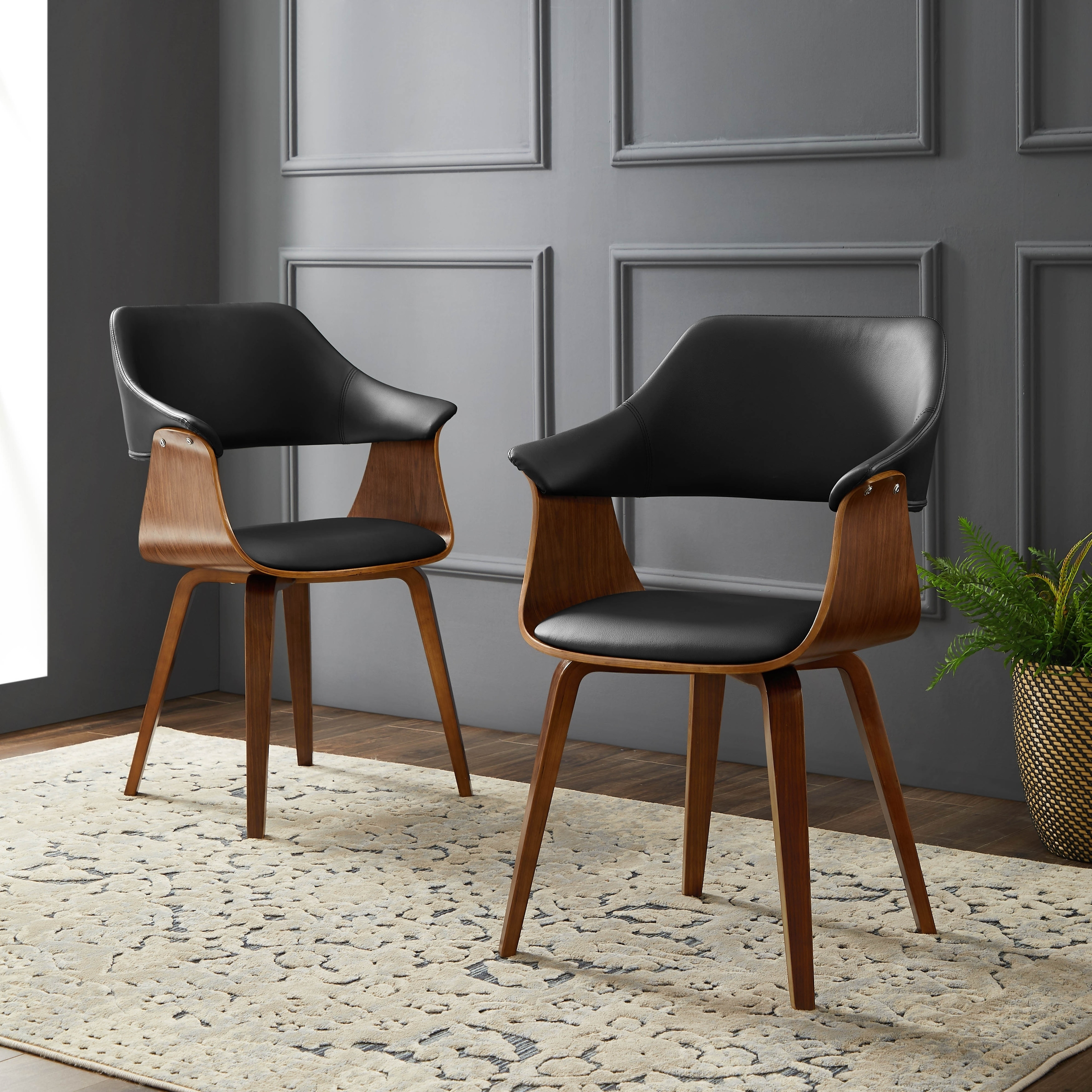 Corvus norah mid century modern accent chairs with