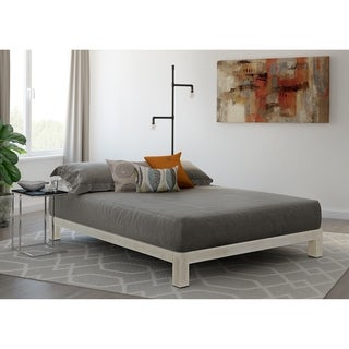 Vesta White Metal Slatted Platform Bed (4 options available)
