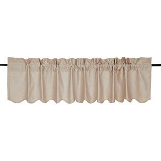 "Charlotte Scalloped Valance - 16"" x 72"""