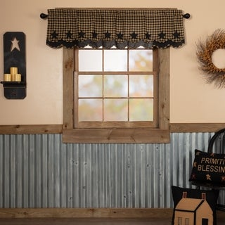 """Star Scalloped Layered Lined Valance - 16"""" x 72"""""""