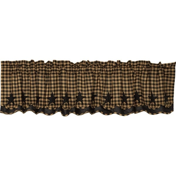 "Star Scalloped Layered Lined Valance - 16"" x 72"""
