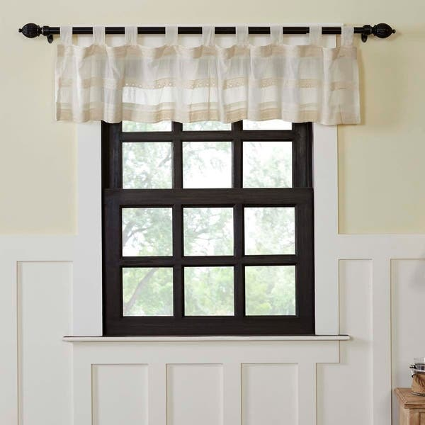 Shop Farmhouse Kitchen Curtains Vhc Quinn Valance Tab Top