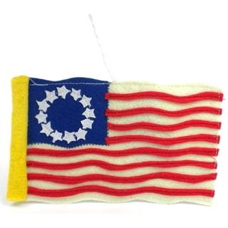 Handmade Felt Colonial American Flag Ornament (Kyrgyzstan)