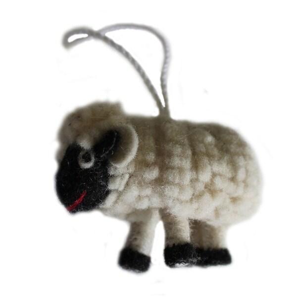 Handmade Felt Sheep Ornament (Kyrgyzstan)