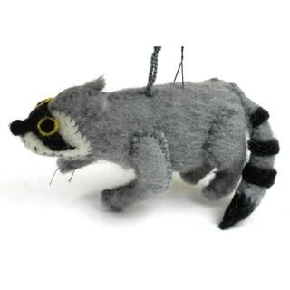 Handmade Felt Faux Raccoon Ornament (Kyrgyzstan)