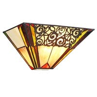 Chloe Evelyn Collection Tiffany Style 1-light Black Wall Sconce