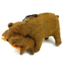 Handmade Felt Bear Ornament (Kyrgyzstan)