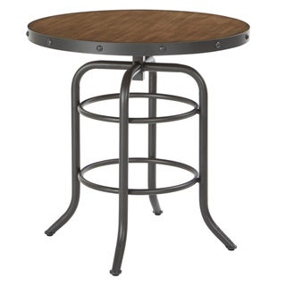 Carbon Loft Horstmann Accent Table with Sandstone Top and Gunmetal Base