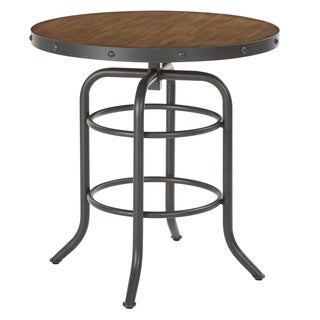Batson Accent Table with Sandstone Top and Gunmetal Base