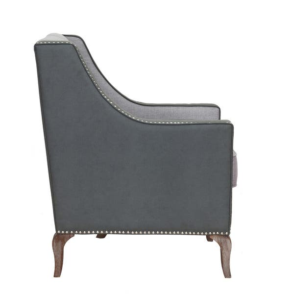 Admirable Shop Chic Home Kris Mixed Material Linen Leatherette Short Links Chair Design For Home Short Linksinfo