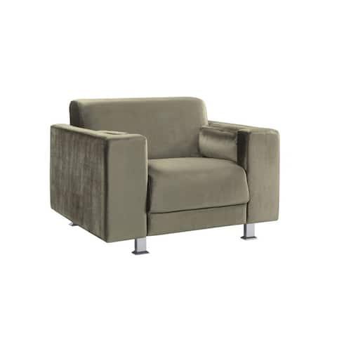 Chic Home Nancy Elegant Velvet Plush Cushion Seat Club Chair