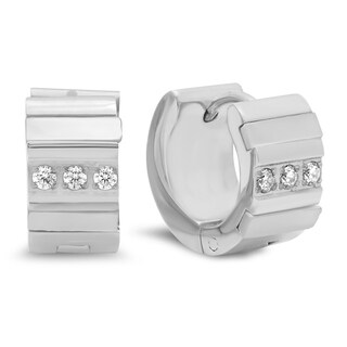 Piatella Ladies Mother of Pearl and Cubic Zirconia Earrings in 3 Colors (2 options available)