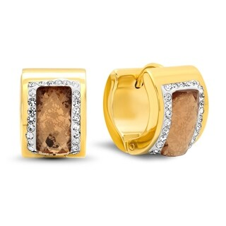 Piatella Ladies Gold Tone Cubic Zirconia Earrings in 4 Colors