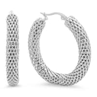 Piatella Ladies Mesh Hoop Earrings in 3 Colors