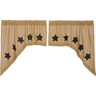 "Burlap w/ Stencil Stars Swag Set - 36"" x 36"" (2 options available)"