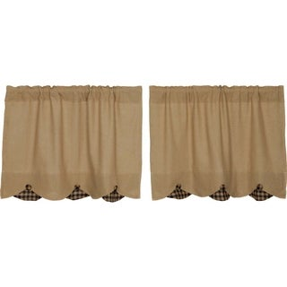 Burlap w/ Check Scalloped Tier Set (More options available)