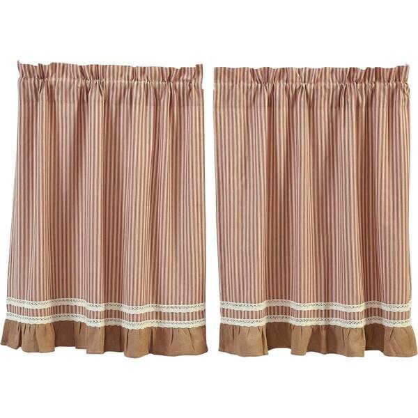 Shop Farmhouse Kitchen Curtains VHC Kendra Stripe Tier Pair ...