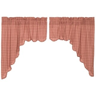 "Independence Scalloped Swag Set - 36"" x 36"""