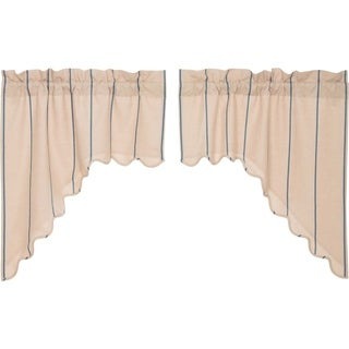 "Charlotte Scalloped Swag Set - 36"" x 36"""