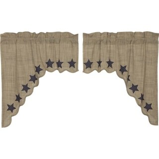 """Vincent Scalloped Lined Swag Set - 36"""" x 36"""""""