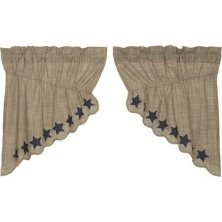 """Vincent Scalloped Lined Prairie Swag Set - 36"""" x 36"""""""
