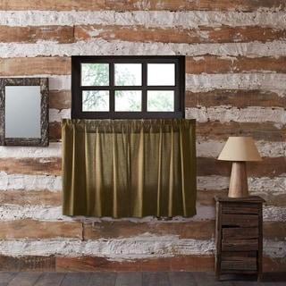 Green Rustic Kitchen Curtains VHC Tea Cabin Green Plaid Tier Pair Rod Pocket Cotton Plaid
