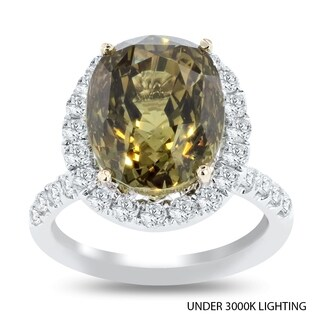 Auriya 18k White Gold Certified 11 1/3ct Alexandrite and 1 1/4ct TDW Diamond Ring