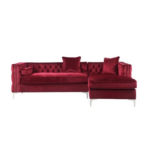 Buy Red, Velvet Sectional Sofas Online at Overstock | Our ...