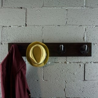 San Antonio 4-hook Metal and Reclaimed Wood Finish Industrial Wall Mounted Entryway Hat Coat Rack
