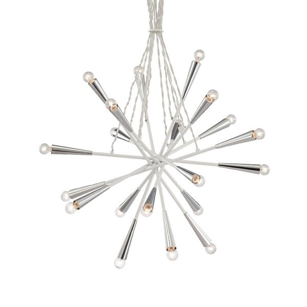 "Eurofase Zazu 20-Light Pendant, White Finish - 22801-029 - 29.5"" high x 29.5"" in diameter"