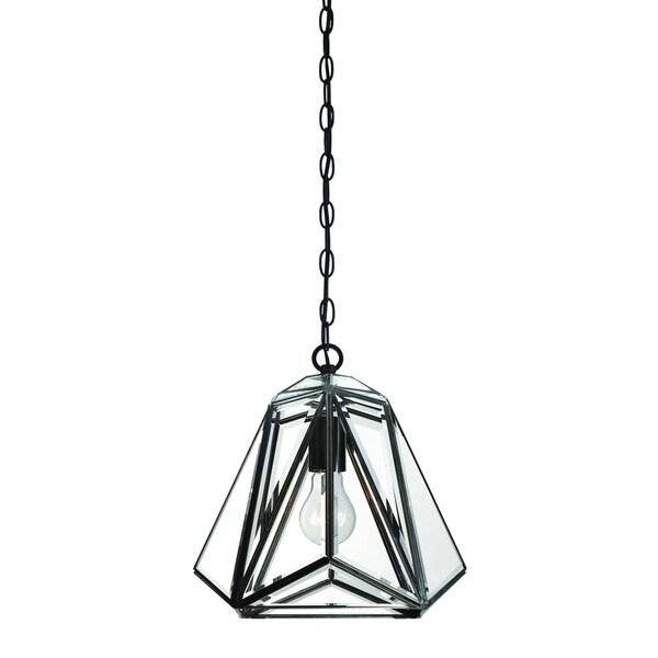 Eurofase Glacier 1-Light Pendant Lantern, Hand Crafted Bronze Frame - 31644-013