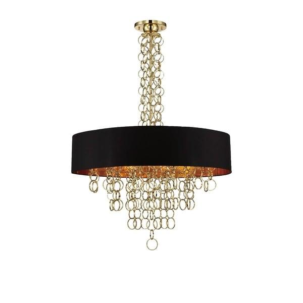 Eurofase Novello 12-Light Pendant, Gold Finish, Black and Gold Shade - 25615-029