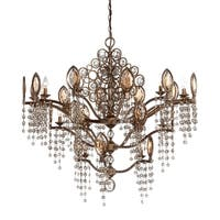 Eurofase Capri 21-Light Chandelier, Bronze Finish - 25657-012