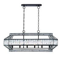 Eurofase Bellezza Geometric Chandelier with Luxurious Crystals, Bronze Finish - 31885-010