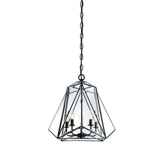 """Link to Eurofase Glacier 5-Light Pendant Lantern, Hand Crafted Bronze Frame with glass shade - 31646-017 - 21"""" high x 21.25"""" in diameter Similar Items in Faucets"""