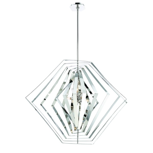 Eurofase Downtown Adjustable Modern 10-Light Chandelier, Hand Polished Chrome Finish - 31888-011