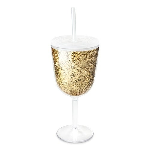 Glitz Double Walled Glitter Wine Glass by Blush