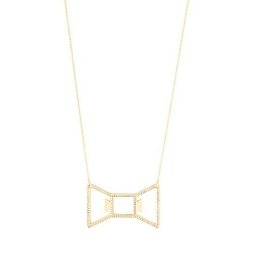 Bowtie: Gold Necklace Bottle Opener