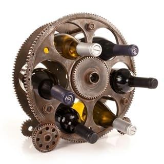 Gears and Wheels Bottle Rack