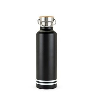25 oz Double Walled Stainless Steel Black Matte Water Bottle