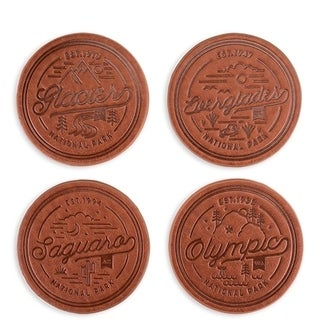 National Park Faux Leather Coaster Set by Foster & Rye