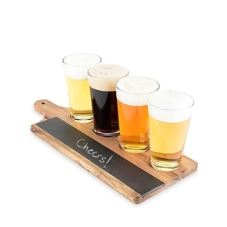 Acacia and Slate Beer Flight Board by Foster and Rye