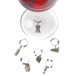 Link to Winery: Pewter Wine Charms Similar Items in Glasses & Barware