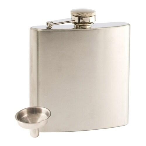 Truefabrications Trueflask™: 6oz Stainless Steel Flask wi...
